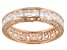White Cubic Zirconia 18k Rose Gold Over Sterling Silver Ring 5.00ctw