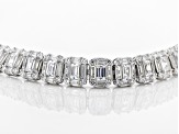 White Cubic Zirconia Rhodium Over Sterling Silver Tennis Bracelet 20.00ctw