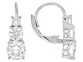 White Cubic Zirconia Rhodium Over Sterling Silver Ring, Earrings, & Necklace Set 12.25ctw