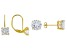 White Cubic Zirconia 18k Yellow Gold Over Sterling Silver Earrings Set Of 2 9.00ctw