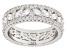 White Cubic Zirconia Rhodium Over Sterling Silver Band Ring 6.50ctw