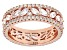 White Cubic Zirconia 18K Rose Gold Over Sterling Silver Band Ring 6.50ctw