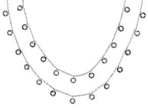 Multicolor Cubic Zirconia Rhodium Over Sterling Silver Necklace 18.90ctw