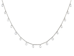 White Cubic Zirconia Rhodium Over Sterling Silver Necklace 27.45ctw