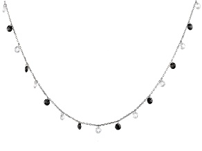 Black and White Cubic Zirconia Rhodium Over Sterling Silver Necklace 27.45ctw