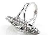 Cubic Zirconia Rhodium Over Sterling Silver Statement Ring 3.80ctw