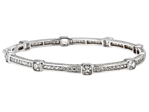 White Cubic Zirconia Rhodium Over Sterling Silver Bracelet 10.10ctw
