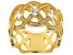White Cubic Zirconia 18K Yellow Gold Over Sterling Silver Band Ring 2.17ctw