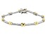 White Cubic Zirconia Rhodium And 18K Yellow Gold Over Sterling Silver Bracelet 0.90ctw