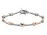 White Cubic Zirconia Rhodium And 18K Rose Gold Over Sterling Silver Bracelet 0.90ctw