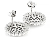 White Cubic Zirconia Rhodium Over Sterling Silver Earrings 3.50ctw