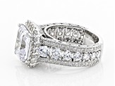 White Cubic Zirconia Rhodium Over Sterling Silver Ring 7.83ctw