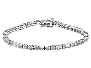 White Diamond 14k White Gold Bracelet 1.00ctw