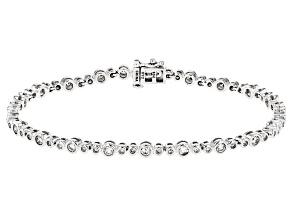 White Diamond 10k White Gold Bracelet 2.00ctw