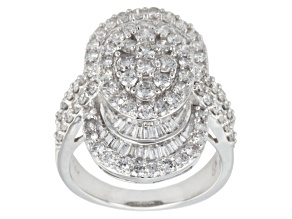 Diamond 14k White Gold Ring 2.45ctw