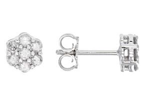 Diamond 10k White Gold Earrings .50ctw