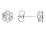 Diamond 10k White Gold Earrings .50ctw