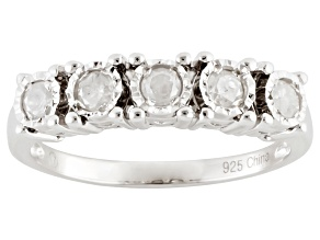 Diamond Rhodium Over Sterling Silver Ring, .30ctw