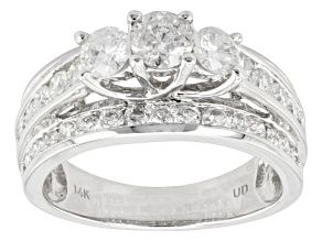 Diamond 14k White Gold Ring, 2.00ctw
