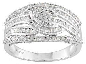 Diamond 10k White Gold Ring .67ctw