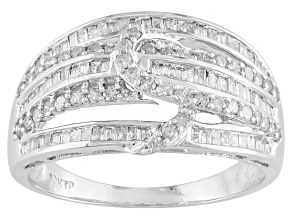 Diamond, 10k White Gold Ring .67ctw