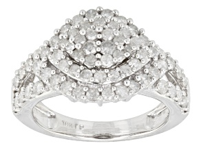 Diamond, 10k White Gold Ring 1.25ctw