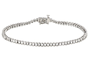 White Diamond 14k White Gold Bracelet 3.25ctw
