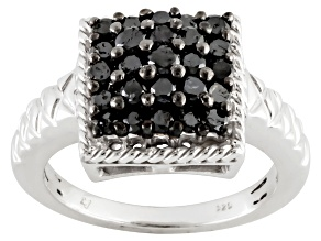 Diamond, Rhodium Over Sterling Siler Ring, 1.00ctw