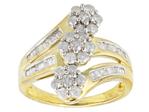 Diamond, 1ctw Gold Over Sterling Silver Ring, 1.00ctw