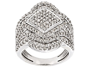 Diamond 10k White Gold Ring 2.20ctw