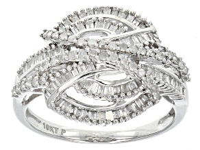 Diamond 10k White Gold Ring .65ctw