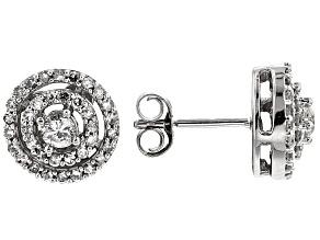 Diamond 10k White Gold Stud Earrings .50ctw