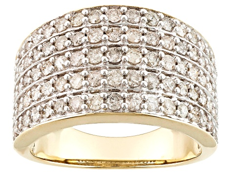 Diamond 10k Yellow Gold Ring 1.25ctw