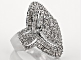 Diamond 10k White Gold Ring 1.50ctw
