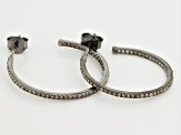 Diamond Black Rhodium Over Silver Earrings .51ctw