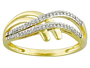Diamond 10k Yellow Gold Ring .10ctw