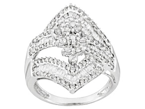 Diamond 10k White Gold Ring1.50ctw