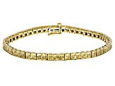 Yellow Diamond 14k Yellow Gold Over Sterling Silver Bracelet 1.00ctw