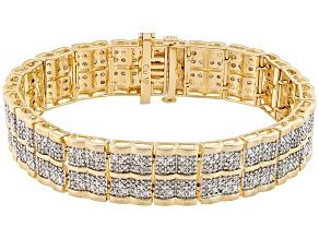 Diamond 14k Gold Over Brass Bracelet 2.00ctw