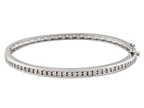 Diamond Brass Bangle .50ctw
