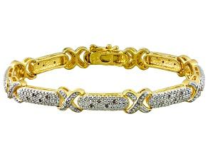Diamond 14k Yellow Gold Over Brass Bracelet .25ctw