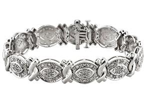 Diamond Rhodium Over Brass Bracelet 2.00ctw