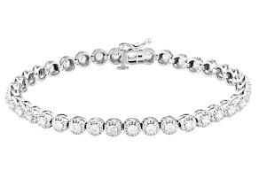 Diamond 10k White Gold Bracelet 3.00ctw