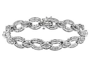 White Diamond Rhodium Over Sterling Silver Bracelet 3.61ctw