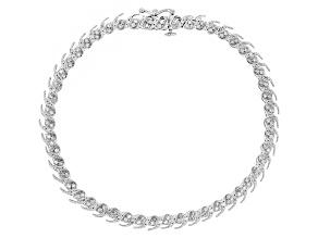 White Diamond 10k White Gold Bracelet 1.00ctw