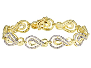 Diamond 14k Gold Over Brass Bracelet .50ctw