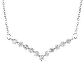 White Diamond 10k White Gold Necklace .50ctw