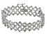 White Diamond Rhodium Over Brass Bracelet 2.00ctw