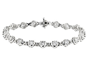 White Diamond 14k White Gold Bracelet 1.95ctw