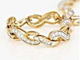White Diamond 14K Yellow Gold Bracelet 2.00ctw
